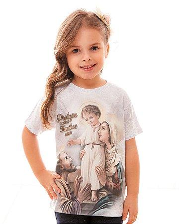 Camisa Infantil Sagrada Família (disponível 8 e 10)