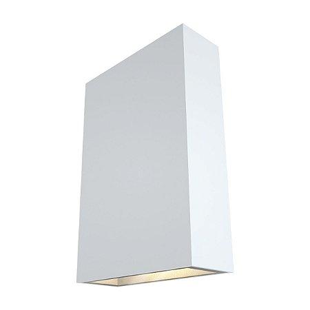 Luminária Arandela Slim Led Branca 4W 2700k Branco Quente 127/220V IP65 Facho Duplo Cor Branco Quente