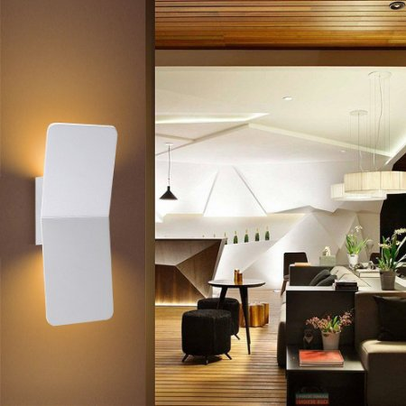 Luminária Arandela Facho Duplo 6W Branco Quente Luz Indireta