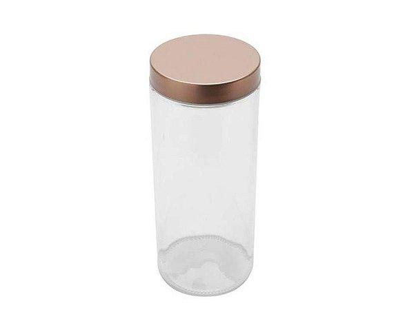 Pote de vidro Borossilicato com tampa de cobre 2,1Lt