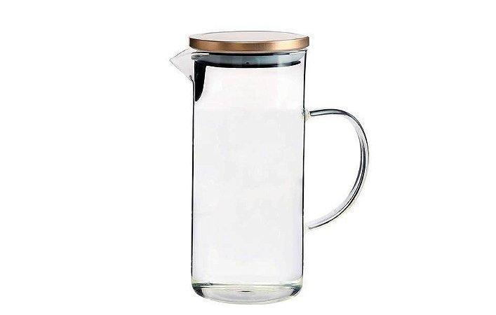 Jarra em vidro com tampa bronze Borossilicato 1,3L Mimo