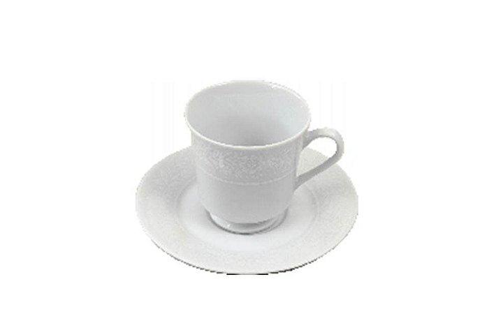 Xícara em Porcelana para  Café com Pires Noiva  Schmidt