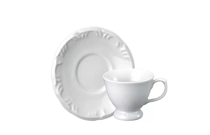 Xícara em Porcelana para Café com Pires 70ml Pomerode  Schmidt
