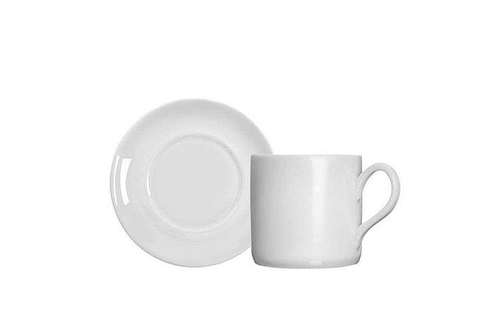 Xícara para Porcelana Branca para Café com Pires Brasília 1ª Linha  Germer
