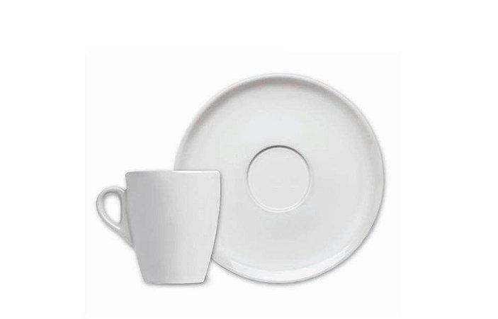 Xícara em Porcelana para  Café com Pires 75 ml Nova Sache Germer