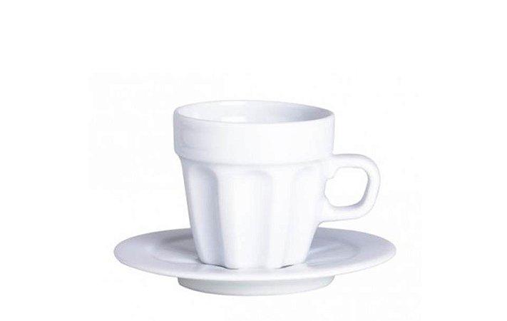 Xícara em Porcelana para Café com Pires 80ml Pingada  Germer