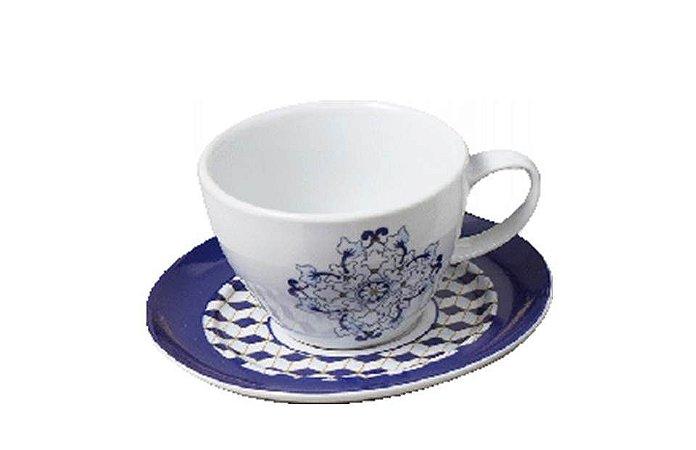 Xícara em Porcelana para Café com Pires 75ml Versa Fado Germer