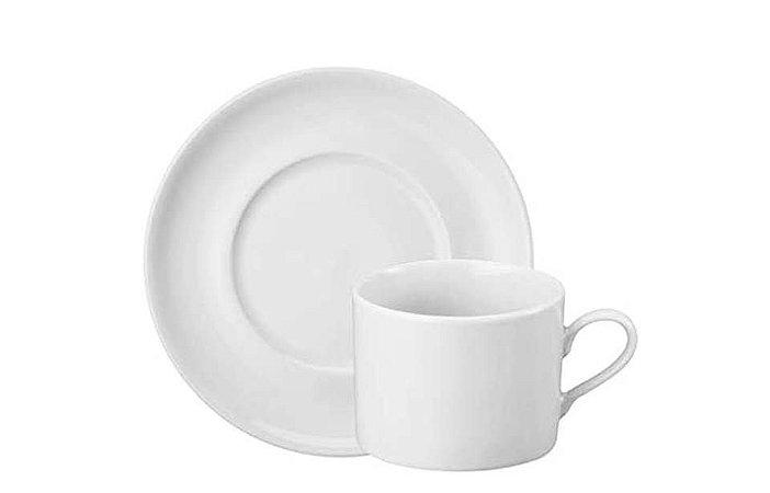 Xícara em Porcelana para Chá com Pires 200 ml  Branca Schmidt