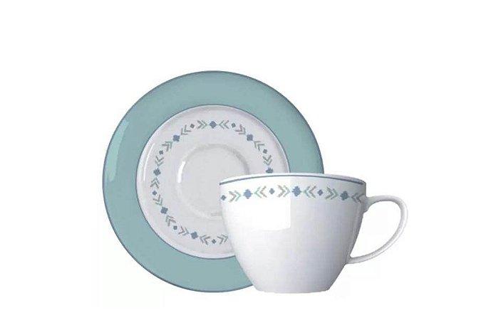 Xícara em Porcelana para  Chá com Pires Cancun  Germer