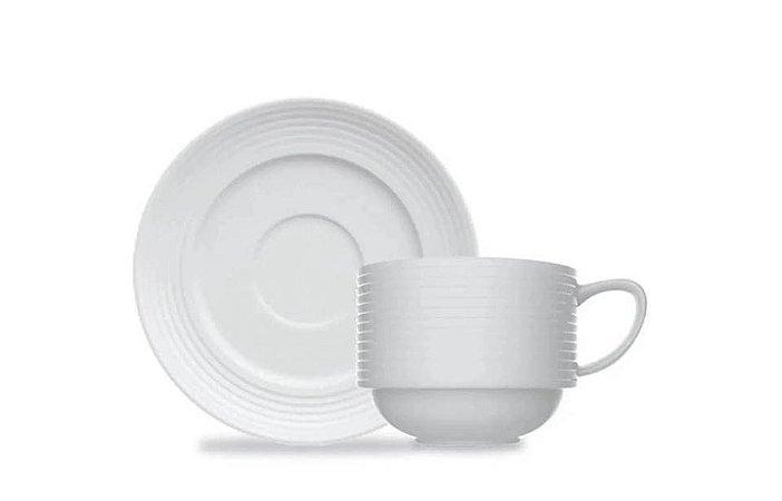 Xícara em Porcelana  Chá com Pires 210 ml Versa  Germer