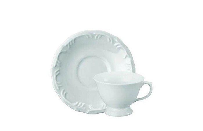 Xícara em Porcelana para Chá  com Pires 200ml Pomerode Schmidt
