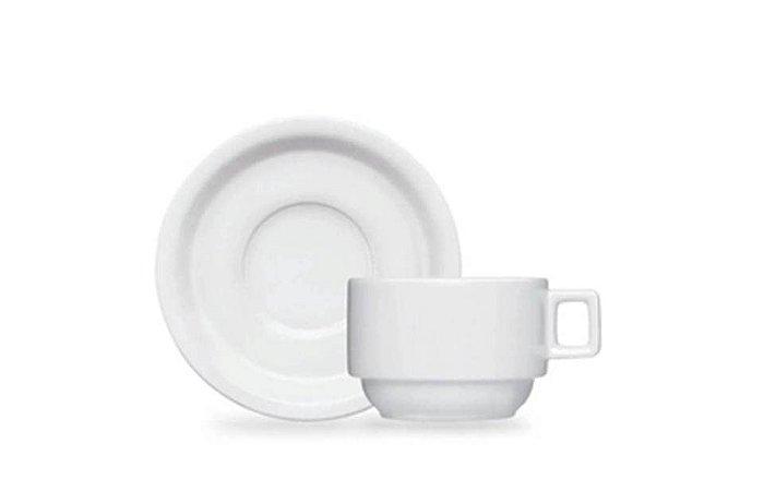 Xícara em Porcelana para Chá com Pires Hotel Versa  Germer