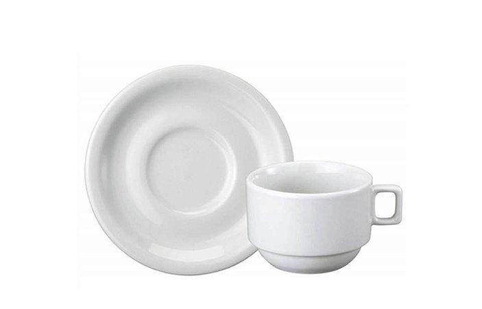 Xícara em Porcelana para Chá com Pires 200ml  Protel  Schmidt