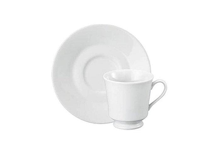 Xícara em Porcelana para Chá com Pires  com Pé 200 ml Itamaraty Schmidt
