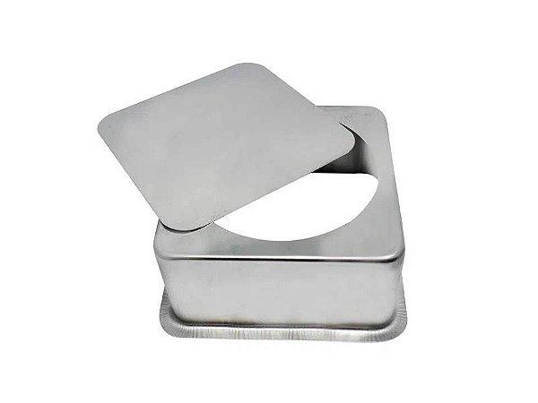 Forma para Bolo quadrada em Alumínio com Fundo Falso 25x7 Caparroz