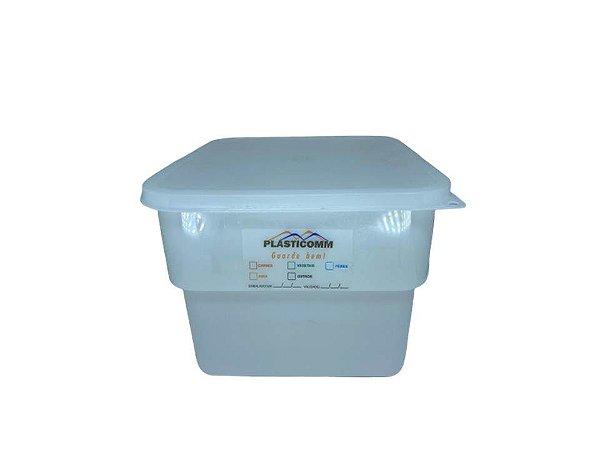 Organizador em Plástico Box Quadrado Branco 11,5L