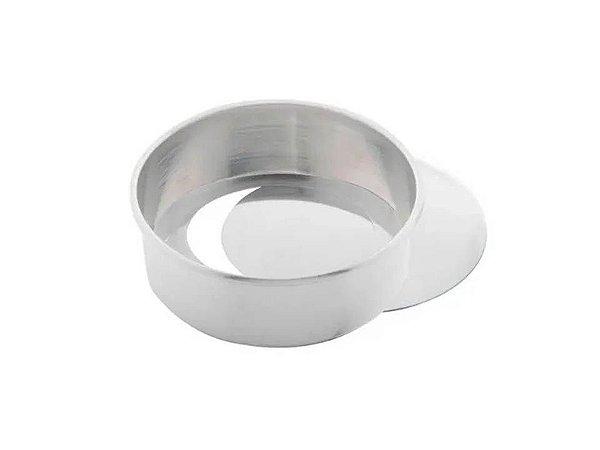 Forma Redonda em Alumínio com Fundo Falso 25xmx8cm Caparroz
