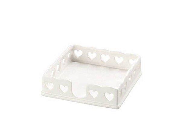 Porta Guardanapo em Cerâmica coração Lyor