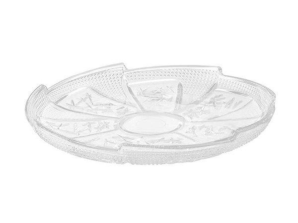 Prato para Bolo em Vidro Vatican 28cm Mimo Style