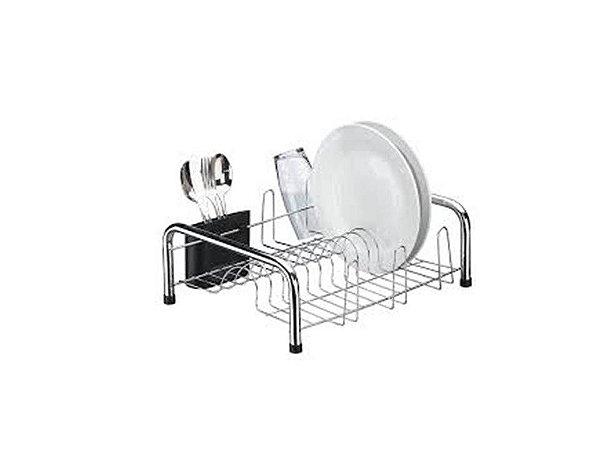 Escorredor de Louça em Aço Cromado para 13 pratos Utimil