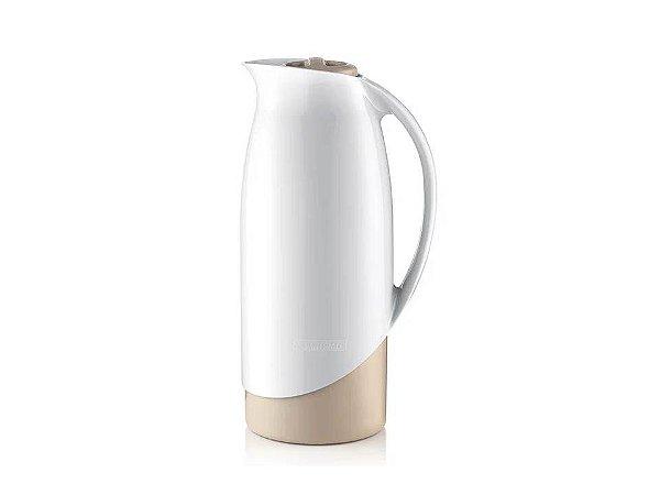 Garrada Térmica em Plástico Branco com Bege Celebrar 1Lt Sanremo