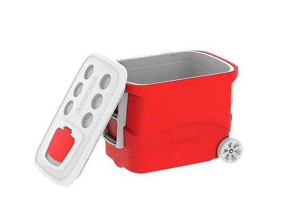 Caixa Térmica Tropical com Rodas Vermelho 50Lt Vermelha Soprano
