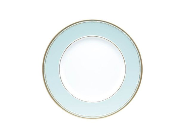Sousplat em Plástico Mint e Dourado 33cm Rojemac