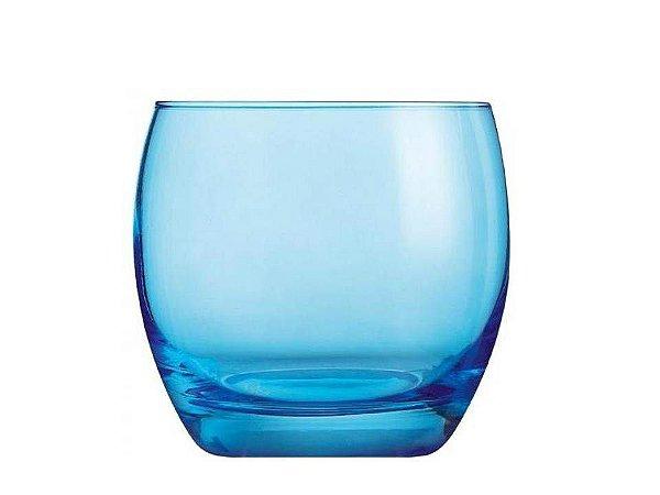 Copo Baixo em Vidro Studio Azul 320ml Luminarc