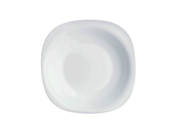 Prato Fundo em Vidro Temperado Branco Carine 21cm Luminarc