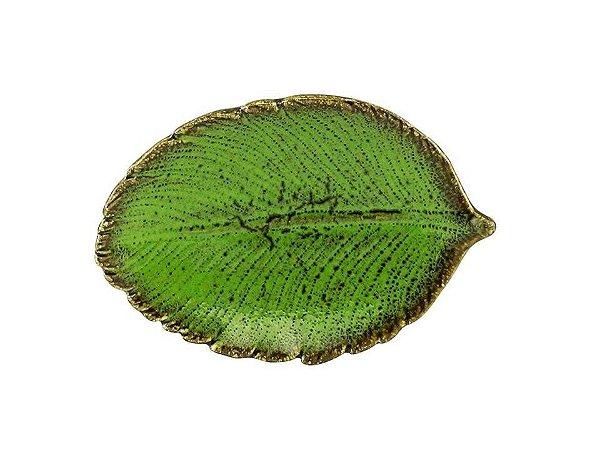 Folha em Cerâmica Verde 13cm Rojemac