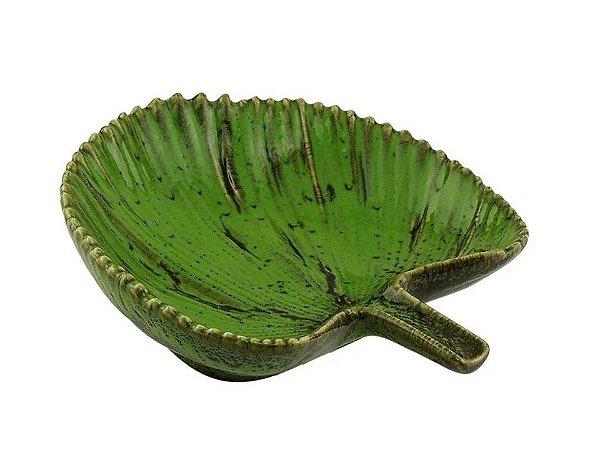 Folha em Cerâmica Verde 14cm Rojemac