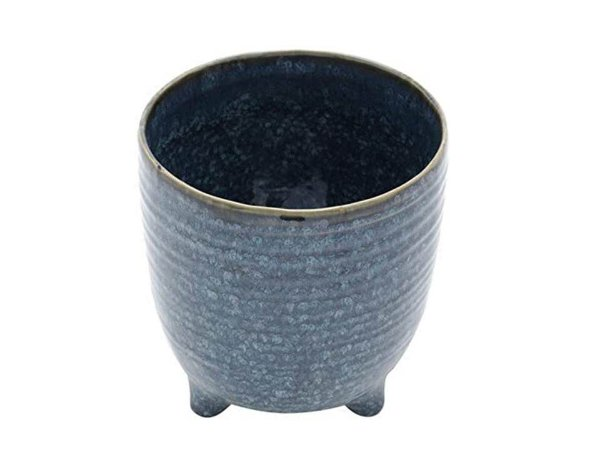 Vaso em Cerâmica Azul Decorativo Rojemac
