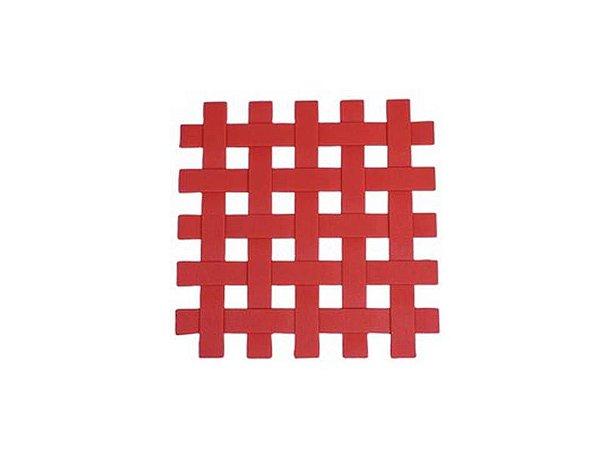 Descanso Panela de Silicone Vermelho 17cm