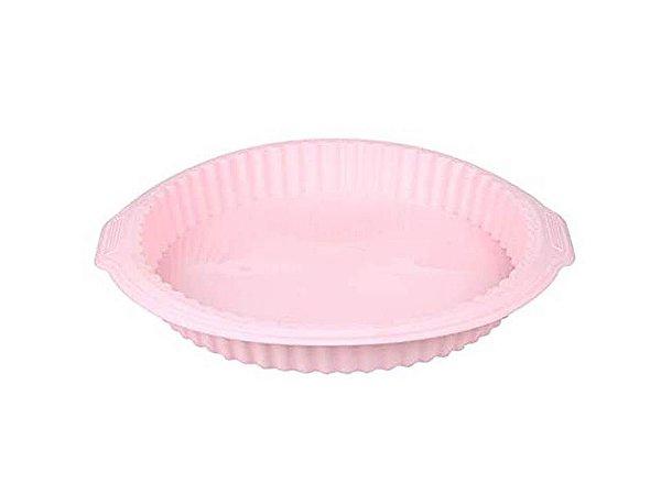 Forma de Silicone para Bolos rosa 26cm