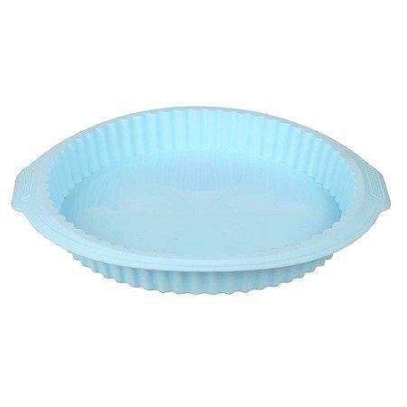 Forma de Silicone redonda para Bolo Azul 26cm