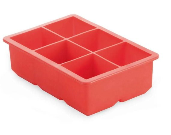 Forma de Gelo Silicone quadrado Grande vermelho