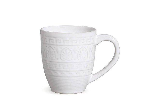 Caneca de Cerâmica Greek branca 330ml