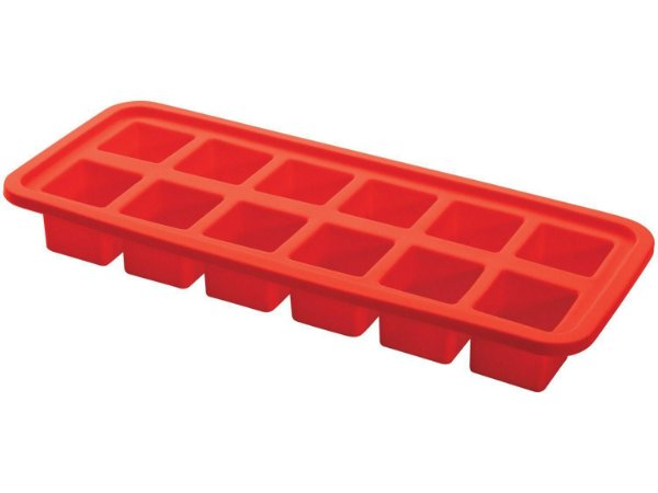 Forma de Silicone retangular para Gelo vermelho com 12 cavidades