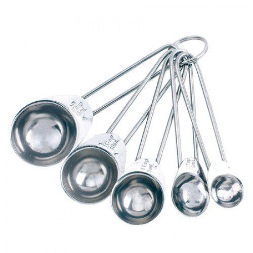 Conjunto Colher Medidora 5 peças prata ASA1502