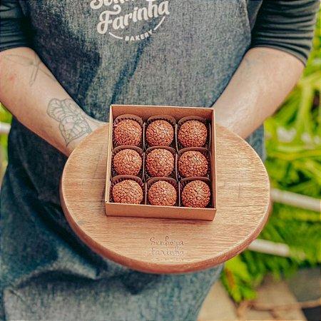 Caixa 9 Brigadeiros - Chocolate Belga