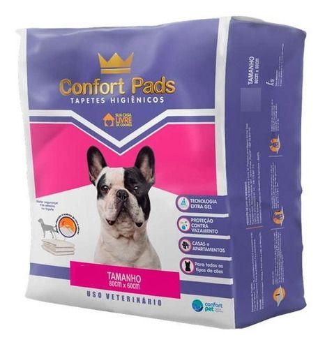 Tapete Cachorros Higiene Descartavel Banheiro 80x60 - 30 Und