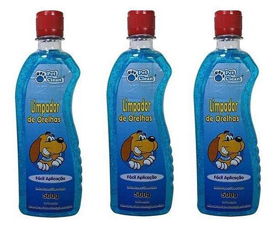 Limpeza Ouvido Orelha Cães Gatos Petclean Em Gel 500ml