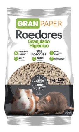 Granulado Higienico Forracao Hamster Roedores Gran Paper 1kg
