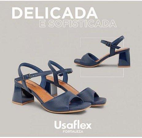 Sandalia Usaflex Nappa Valise Azul
