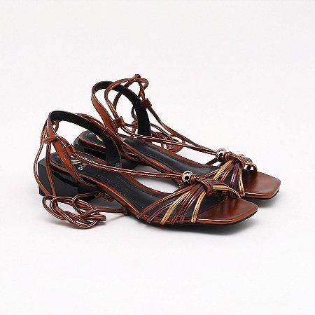 Sandalia Metalizado Bronze