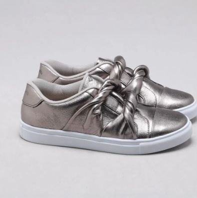 Sapato Couro Cabra Metallo Onix