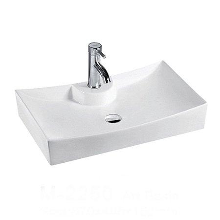 Cuba de cerâmica para banheiro 67x46x15 cm