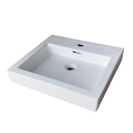 Cuba de cerâmica para banheiro/lavabo 49x45x12 cm