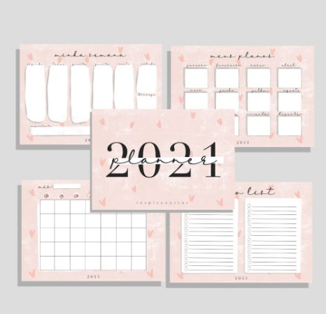Planner 2021 | Produto digital enviado por e-mail
