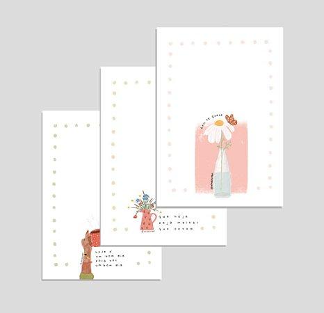 Kit 3 Cartões: Bem Me Quero, Bom Dia e Hoje é Melhor   Produto digital enviado por e-mail